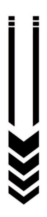 Pegatina motera color negro flechas