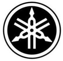 Pegatina motera color negro logotipo yamaha