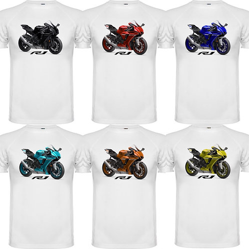 camiseta exclusive rider de chico diseño de una moto yamaha r1