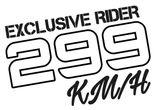 Diseño velocidad 299 kilometros por hora, exclusive rider