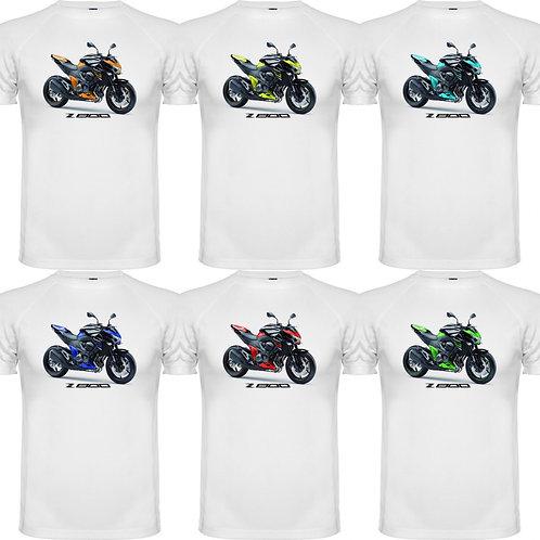 camiseta exclusive rider de chico diseño de una moto kawasaki z800