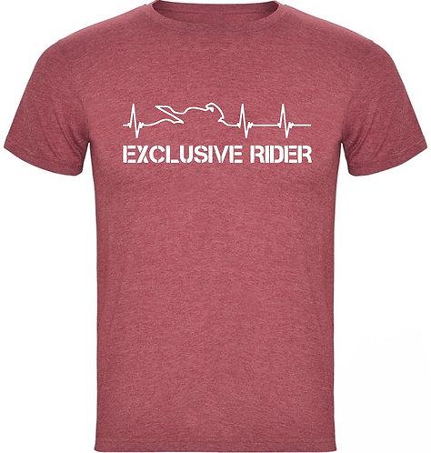 camiseta jaspeada latidos color granate