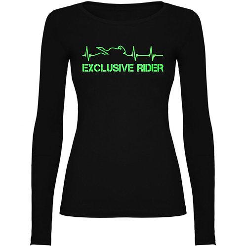 Camiseta Chica Manga Larga Latidos Fluorescente