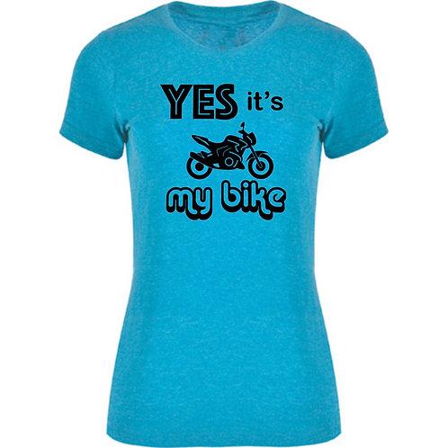 camiseta motera de una naked color azul turquesa exclusive rider