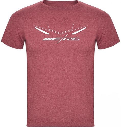 camiseta jaspeada de una yamaha r6 color granate