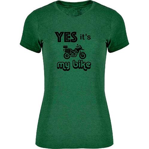 camiseta verde motera trail exclusive rider