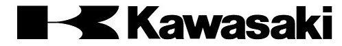Pegatina motera color negro k-kawasaki