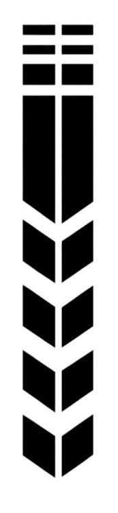 Pegatina motera color negro marca rueda