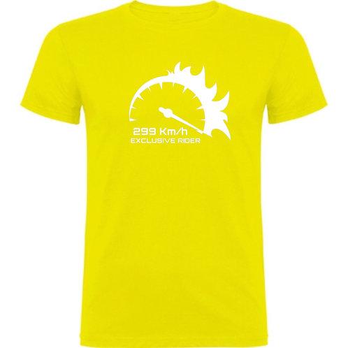 camiseta de chico motero 299km/h color verde claro