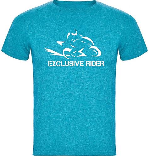 camiseta jaspeada modelo speed color azul turquesa
