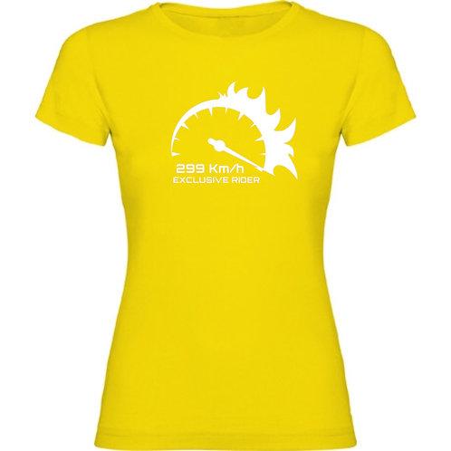 camiseta 299km/h de chica color verde oscuro