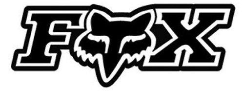 Pegatina motera color negro fox