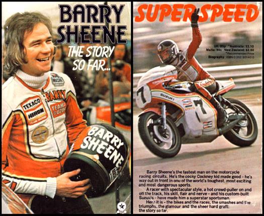 Saludo motero originado por barry sheene en su motocicleta.