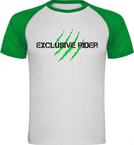 Camiseta unisex verde garras exclusive rider