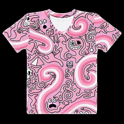 Blobbo Womens Pink Dimension T-Shirt