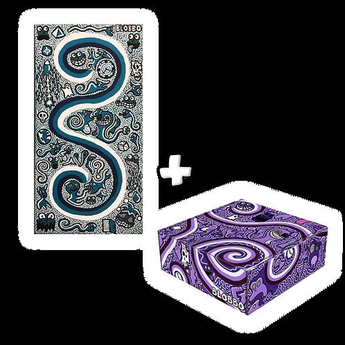 Blobbo Blue Ups and Downs Painting + Blobbo Box Bundle