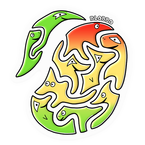 Blobbo Mango Sticker