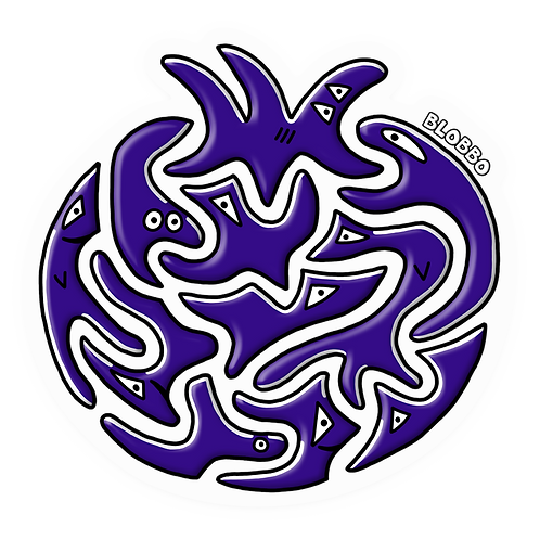 Blobbo Blueberry Sticker