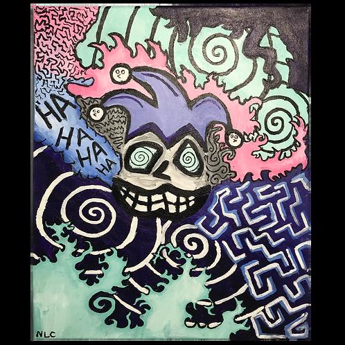 Blobbo Jester Painting