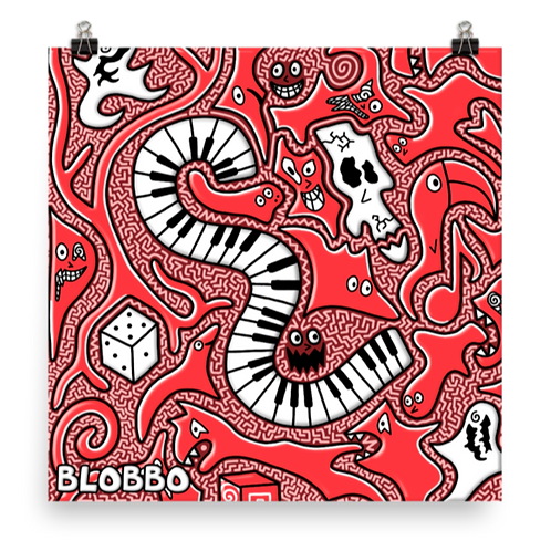 Blobbo Warped Music Poster