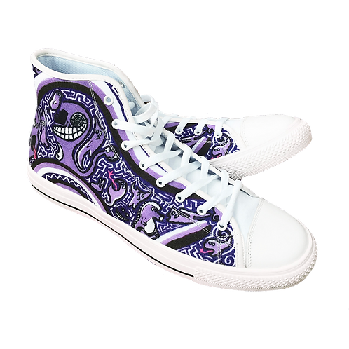 Blobbo Brand Purple Hightop Canvas Shoes