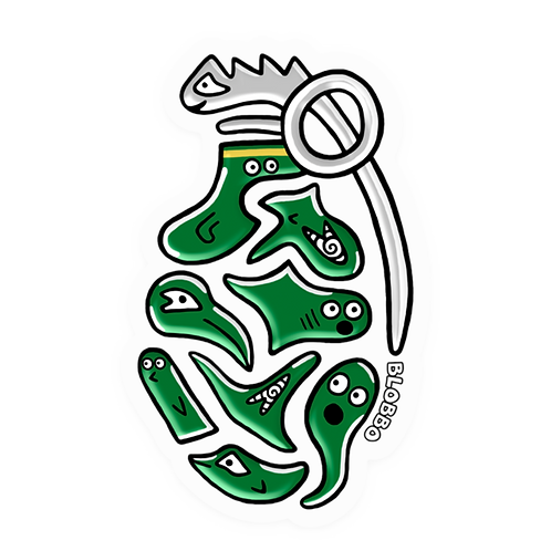 Blobbo Grenade Sticker