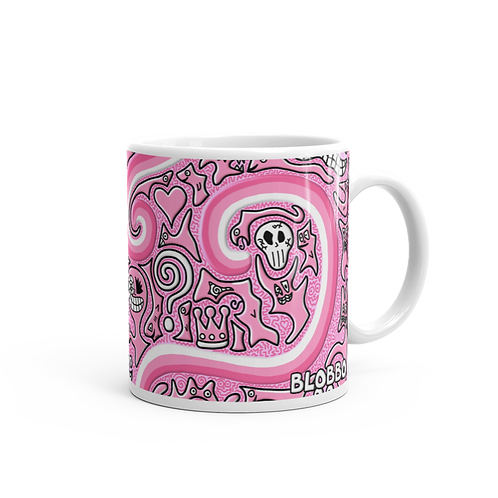 Blobbo Pink Dimension Mug