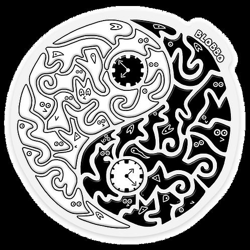 Blobbo Yin Yang Sticker