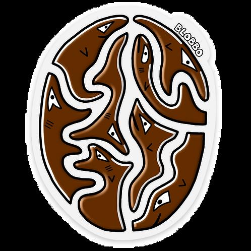 Blobbo Coffee Bean Sticker
