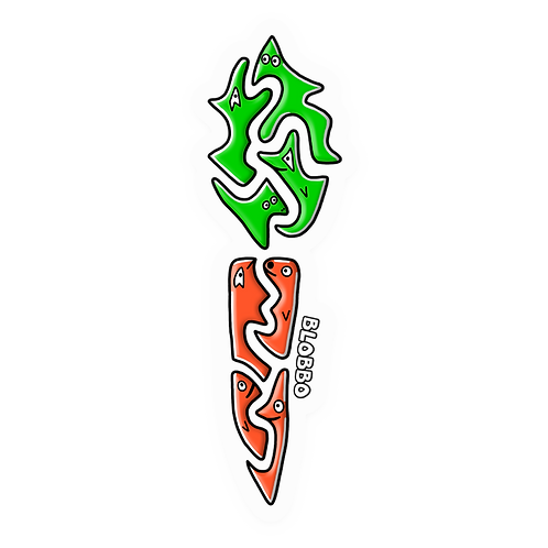 Blobbo Carrot Sticker