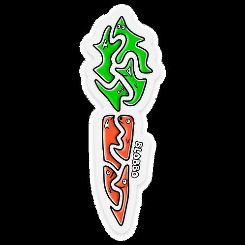 Blobbo Carrot Sticker