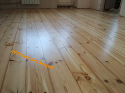 деревянный пол после реставрации