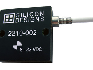 Single Axis MEMS Capacitive Accelerometers from Silicon Designs Offer Low-Noise Measurements