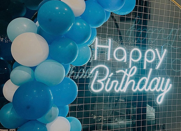 """Happy Birthday"" Letrero Luz neon"