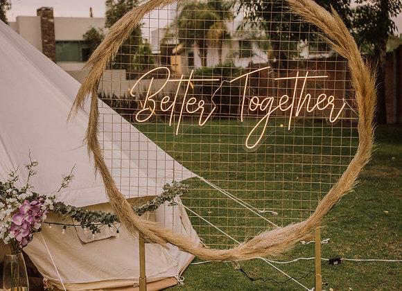 """Better Together"" Letrero Luz neon"