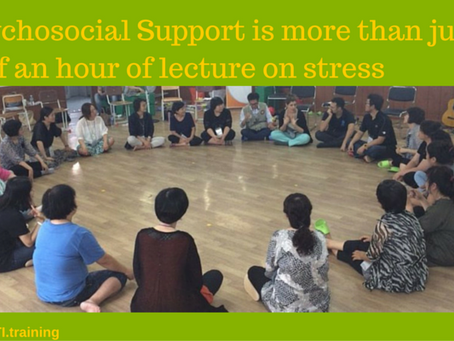 Psychosocial Support: More Than 30 Minutes Lecture on Stress