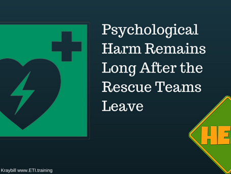 Psychological Harm Remains Long After the Rescue Teams Leave