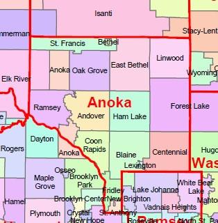 Anoka County Map