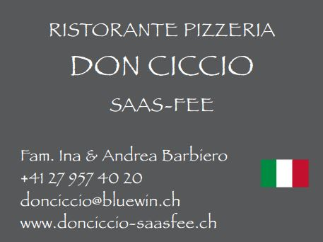 Restaurant DON CICCCIO - Saas-Fee