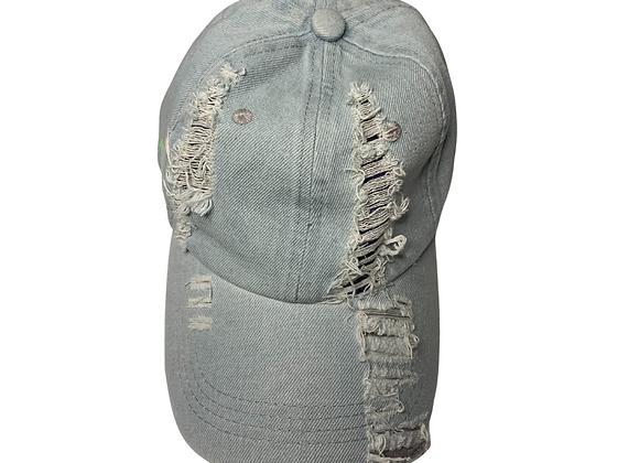 Light Blue Jean Baseball Hat