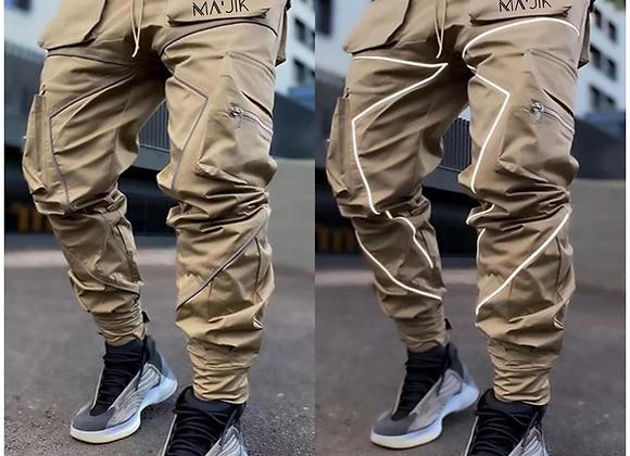 Tan Reflective Cargo Pants