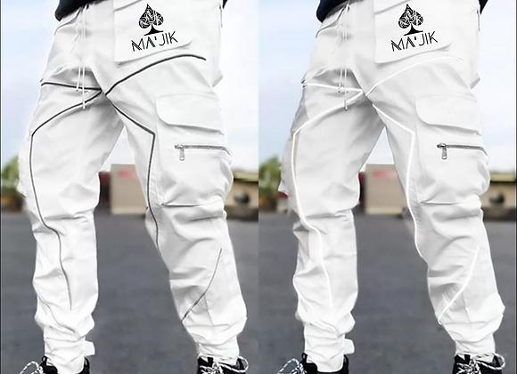 White Reflective Cargo Pants