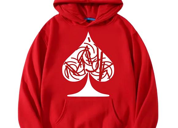 """""""Love Thy Logo"""" Red  Hoodie"""