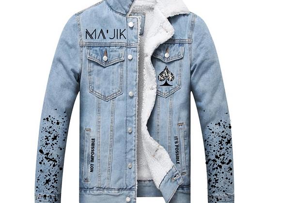 Believe in Ma'Jik Blue Jean Jacket