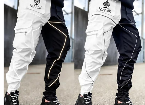 B/W Reflective Cargo Pants