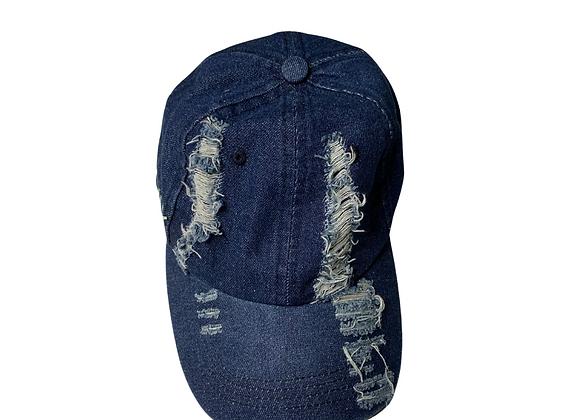 Dark Blue Jean Baseball Hat