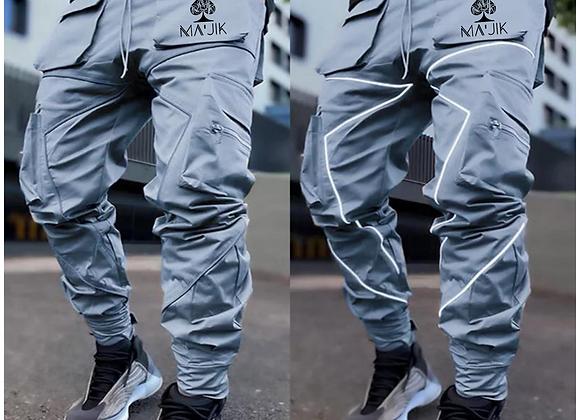 Grey Reflective Cargo Pants