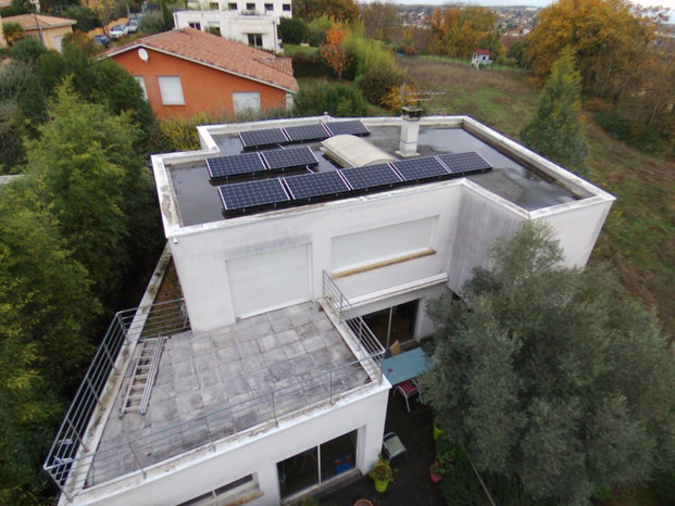Photovoltaïque Toulouse 3kWc Toiture terrasse