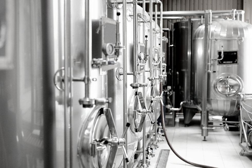 Modern beer brewery in distribution industry