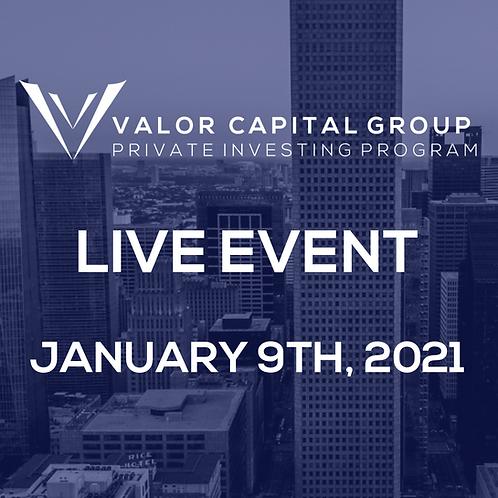 Private Investing Program: Live January 9th, 2021